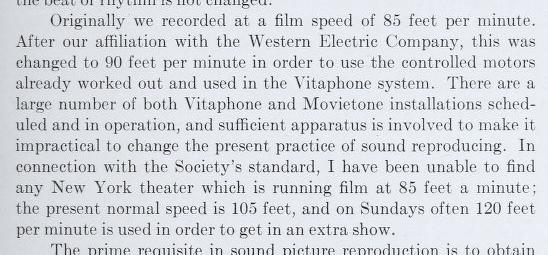 Earl Sponable 105 feet per minute